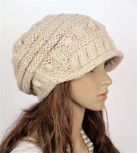 Handmade Knitted Hats - slouchy handmade knitted hat