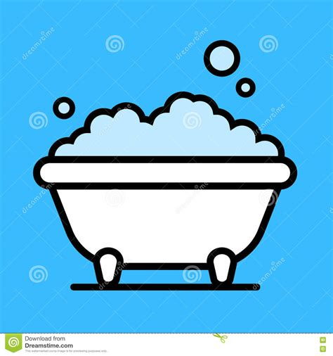 bathtub bubbles cute cartoon bathtub with a bubble bath stock vector