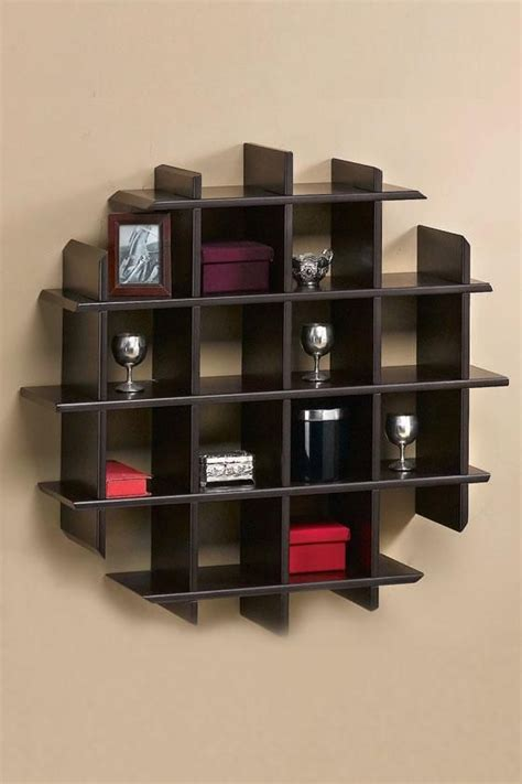 home design wooden unique wall shelves design modern