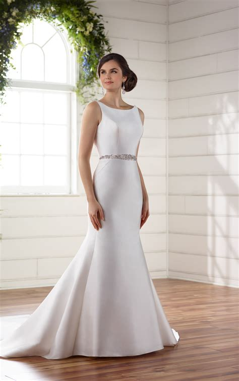 Silk Gown Wedding by Wedding Dresses Structured Silk Wedding Dress Essense
