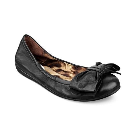 guess flat shoes guess adalina ballet flats in black lyst