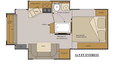 slide in cer floor plans host rv truck cers access rv