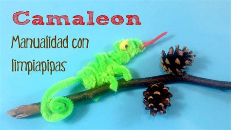imagenes de animales reciclados manualidades infantiles camale 243 n con limpiapipas youtube