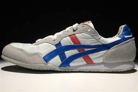 Onitsuka Tiger Blue White onitsuka tiger serrano white blue shoes d109l