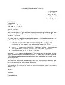 Sample Investment Banking Cover Letter
