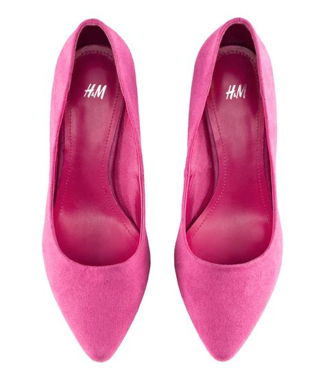 shoes h m h m shoes in pink lyst