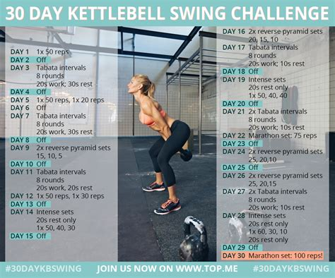 benefits of kettle bell swings 30 day kettlebell swing challenge fitness pinterest