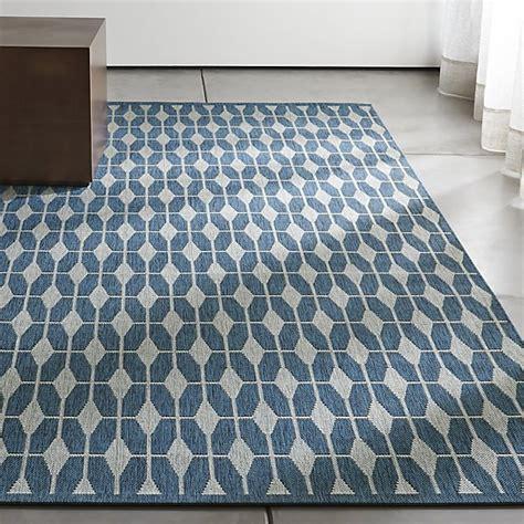 Outdoor Floor Rug Aldo Ii Blue Indoor Outdoor Rug Crate And Barrel