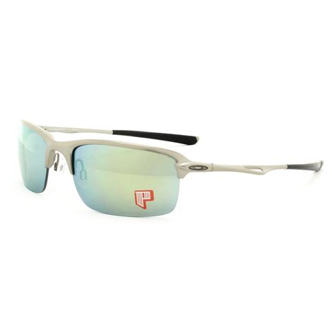 New Frame Kacamata Oakley Wiretap Silver Model 201 Limited oakley wiretap sunglasses oo4071 07 light frame emerald iridium polarized lens ebay
