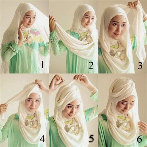 tutorial hijab pashmina rawis untuk pesta 7 tutorial hijab pashmina wajah bulat simple hijabyuk com