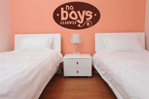girls bedroom transfers no boys allowed wall stickers girls bedroom wall art decal