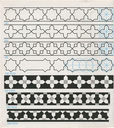 islamic pattern border gpb 070 geometric patterns borders david wade