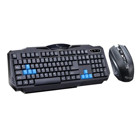 Keyboard Wireless Komputer 2 4ghz wireless gaming keyboard mouse combo set waterproof keyboard and 1600dpi pro gaming mouse