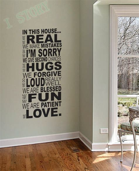 ebay wall stickers quotes ebay selling free shipping family wall quotes quot in this house quot vinyl wall stickers house