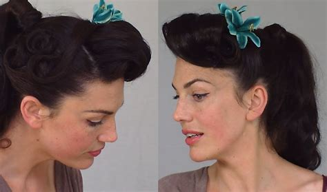 Pin Up Ponytail Hairstyles by Pin Up Ponytail Easy Practical Vintage Hairstyle
