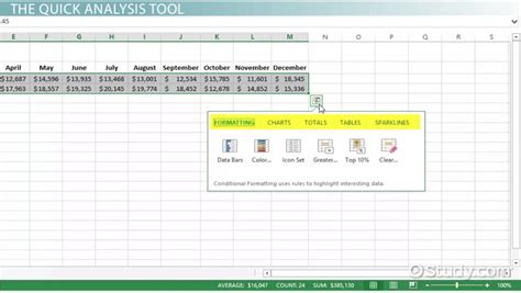 Mba Study Analysis Exle by Analysis In Excel Lesson Transcript