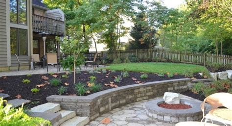 Sloped Backyards by Sloped Backyard Landscaping Ideas Backyard Centerville