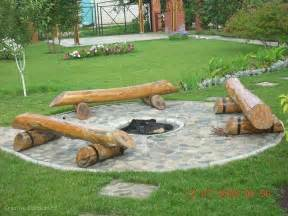 Firepit Seating Diy Log Seating Around Pit Backyards Outdoor Living Design Pits And