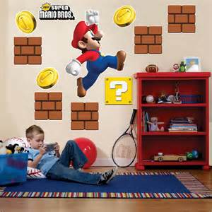 amovible wall sticker decal accueil cors ant big super mario