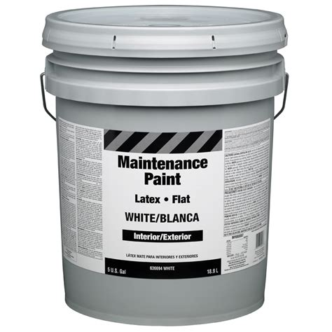shop property advantage maintenance 5g i e white flat interior exterior paint actual net