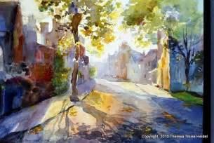 Landscape Artists Watercolor Watercolor City Landscape