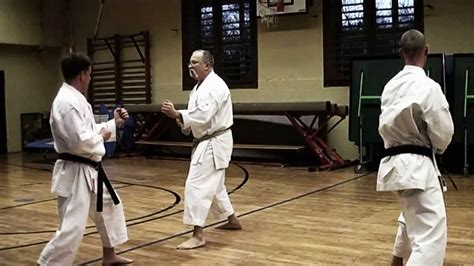 video tutorial karate kumite training with sensei gyula b 252 ki 7th dan shotokan
