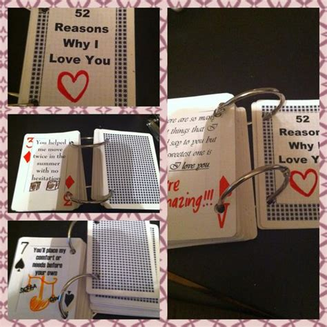 Deck Of Cards Gift For Girlfriend - boyfriend gift ideas significant other and boyfriends on pinterest