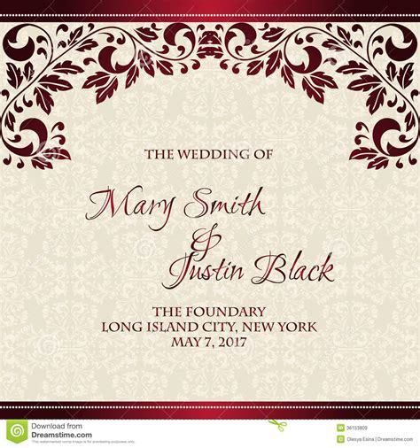 wedding invitation design red motif card invitation sles wedding cards invitation modern