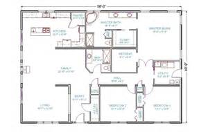 3 Bedroom 3 Bath Floor Plans 4 bedroom 3 bath ranch house plans 2017 house plans and