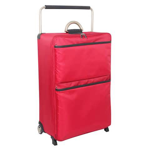 b amp m gt world s lightest 30in suitcase red 275870