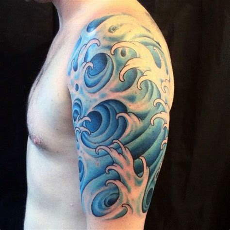 water tattoos for men 80 water tattoos for masculine liquid designs