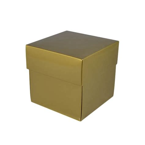tiny in a box gloss gold square small gift box