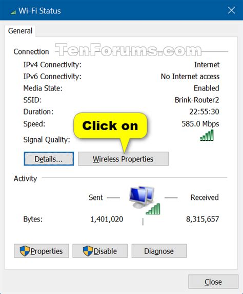 mobile network key wireless network security key password see in windows 10