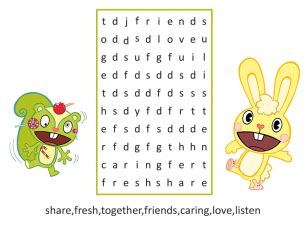 printable word search about friendship printable friendship word search puzzles