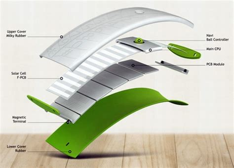 design concept leaf solar concept phones