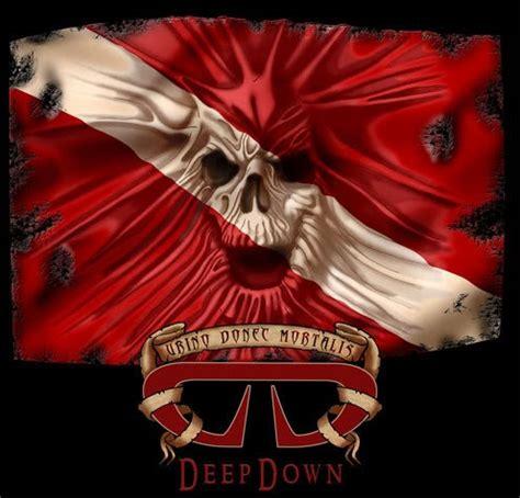 dive flag tattoo designs skull in diver flag dive