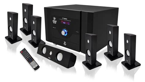 pyle pt798sba 7 1 channel home theater system w satellite