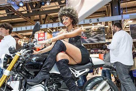 sexy girls eicma hot sexy girls su moto bmw alleicma