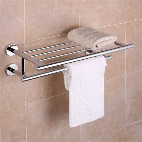 Bathroom Shelving For Towels Carine Chrome Towel Shelf Hugo Oliver