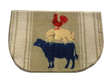 cow kitchen rug cow pig rooster kitchen rug country decor