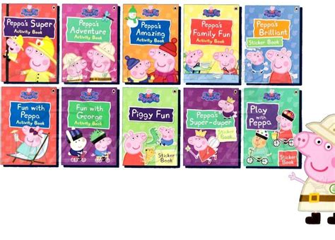 Peppa Pig Peppa Duper peppa pig activity carry 10 books collection 6