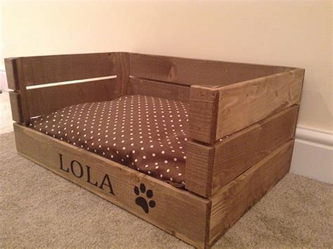 crate beds crate bed wooden personalised apple crate dog cat bed