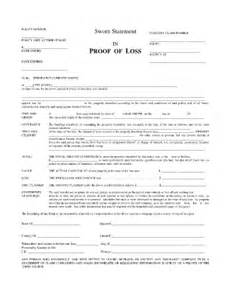 sworn proof of loss statement fill online printable