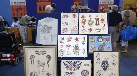 online tattoo appraisal vintage tattoo flash art antiques roadshow pbs