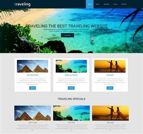 tourism website templates free traveling a travel guide mobile website template hotel