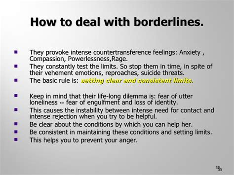 test borderline borderline personality organization