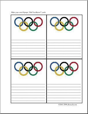 did you olympics color four printable cards with