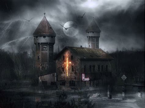 haunted house scary wallpapers