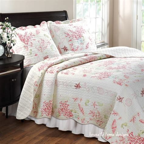 Beachy Quilt Sets by Coral Shells Quilt Set