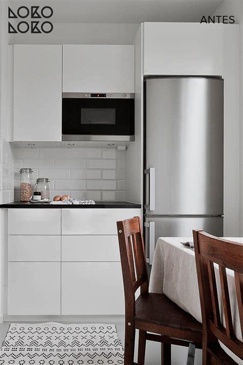 antes  despues renovar cocinas blancas  vinilos de
